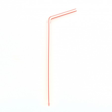 Pailles Flexibles  Ø5mm 24cm ( 10.000 Unités)