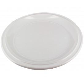 Assiette Plastique à Pizza Blanche 280mm (100 Unités)