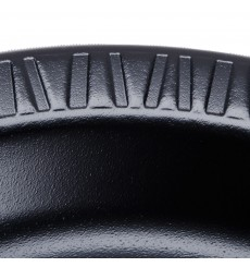 Assiette plate en Foam Noir180 mm (125 Unités)
