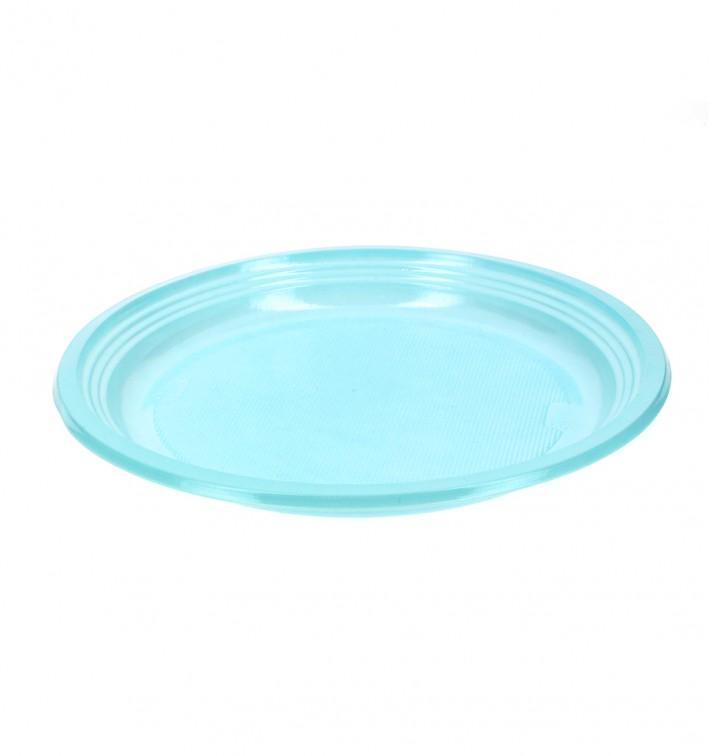 Assiette Plate Plastique Bleu 205mm (960 Unités)