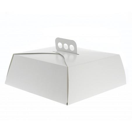 Boîte en Carton Blanc Tarte Carrée 34x34x10cm (50 Unités)