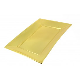 Plateau Plastique Doré rectang. 330x 230mm (360 Utés)