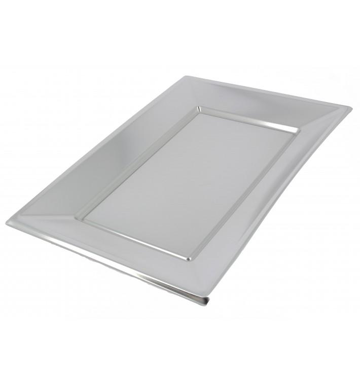 Plateau Plastique Argenté rectang. 330x 230mm (120 Utés)