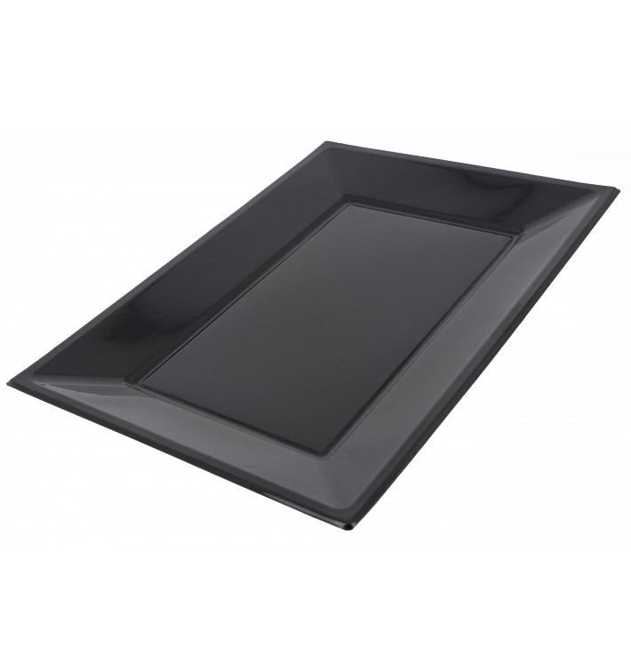 Plateau Plastique Noir rectang. 330x 225mm (3 Unités)