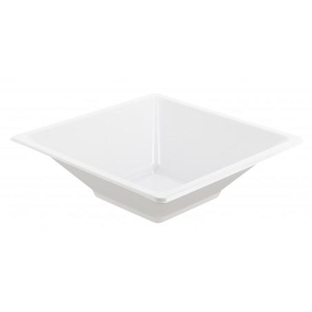 Bol carré en plastique blanc 120x120x40mm (360 Unités)
