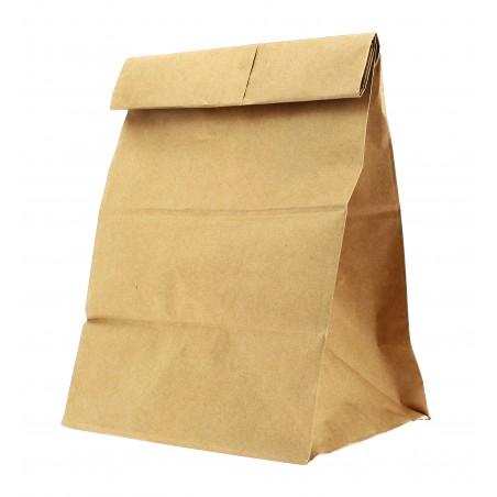 Sac en papier KRAFT sans anses 18+12x29cm (25 Unités)
