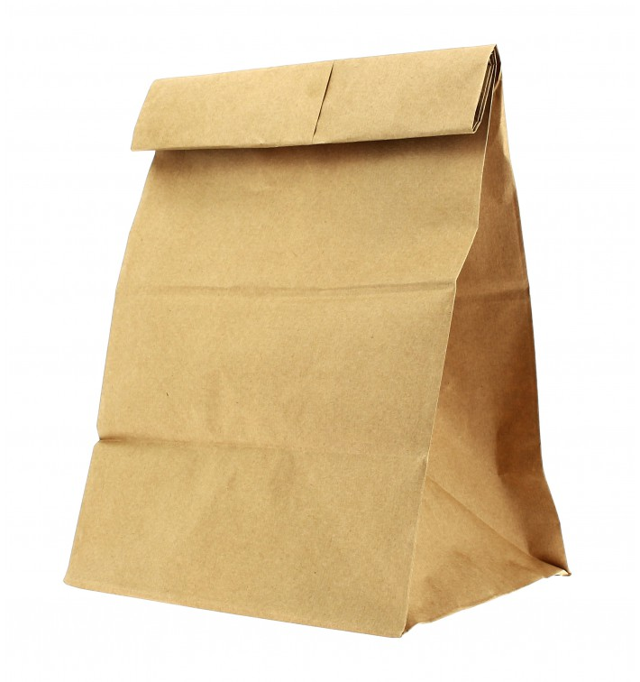 Sac en papier KRAFT sans anses 21+14x40cm (25 Unités)