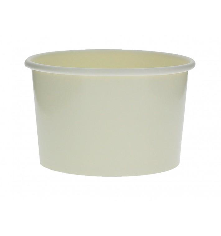 Pot à glace en carton 3oz/90ml Blanc (50 Utés)