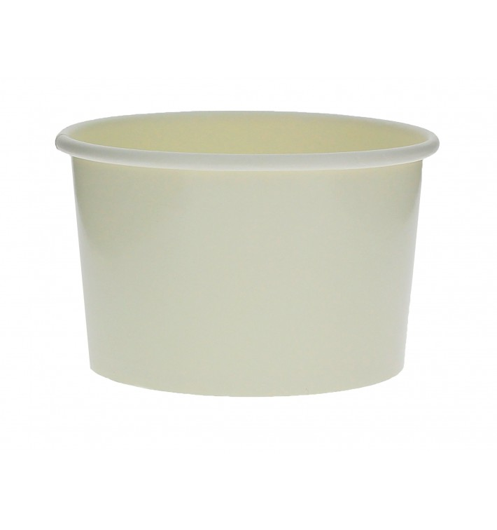 Pot à glace en carton 3oz/90ml Blanc (1000 Utés)
