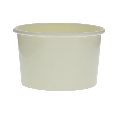 Pot à glace en carton  3oz/90 ml Blanc (1000 Utés)