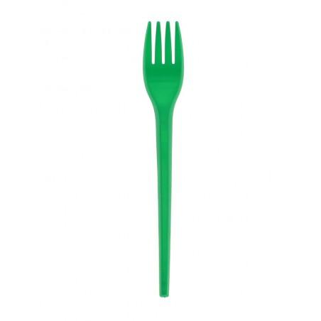 Fourchette Plastique Verte de 165mm (15 Unités)