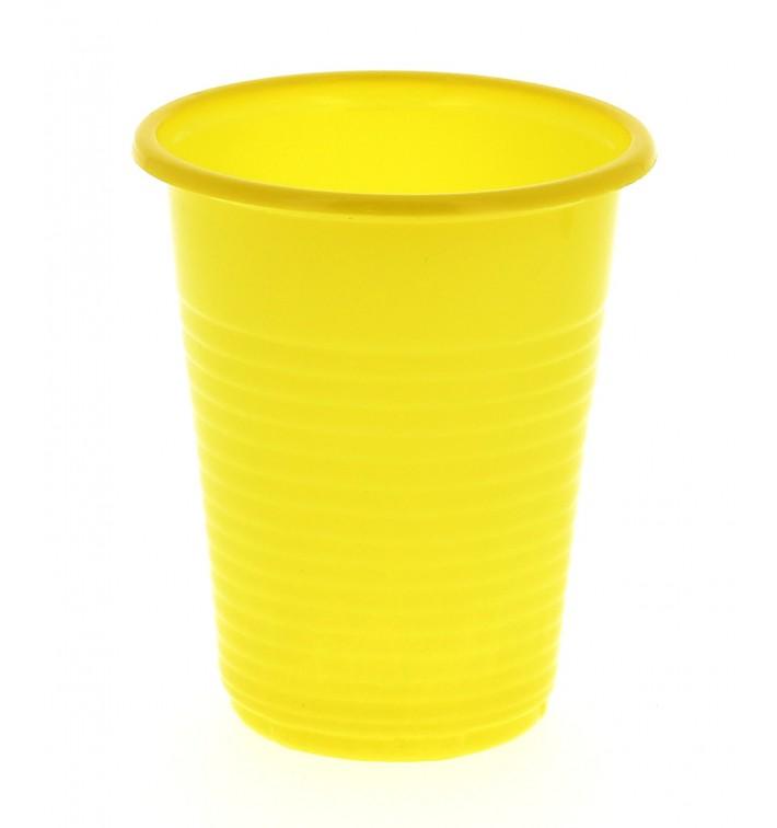 Gobelet Plastique PS Jaune 200 ml (24 Unités)