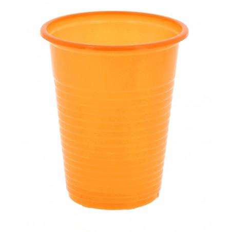 Gobelet Plastique PS Orange 200 ml (24 Unités)