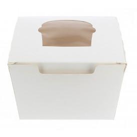 Boîte pour 1 Cupcakes Blanc avec insert (200 Utés)