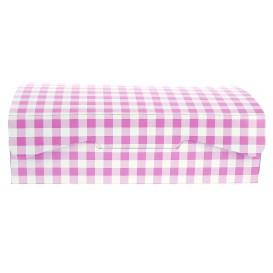 Boîte pâtissière 18,2x13,6x5,2cm 500g.  Rose (20 Utés)
