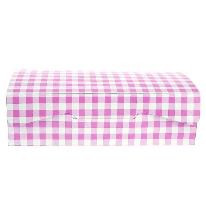 Boîte pâtissière 18,2x13,6x5,2cm 500g. Rose (260 Utés)