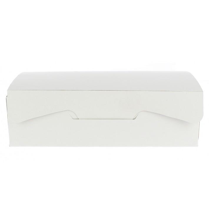 Boîte pâtissière 18,2x13,6x5,2cm 500g. Blanc (25 Utés)