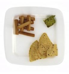 Assiette plate en Foam Blanc 225 mm (50 Uds)