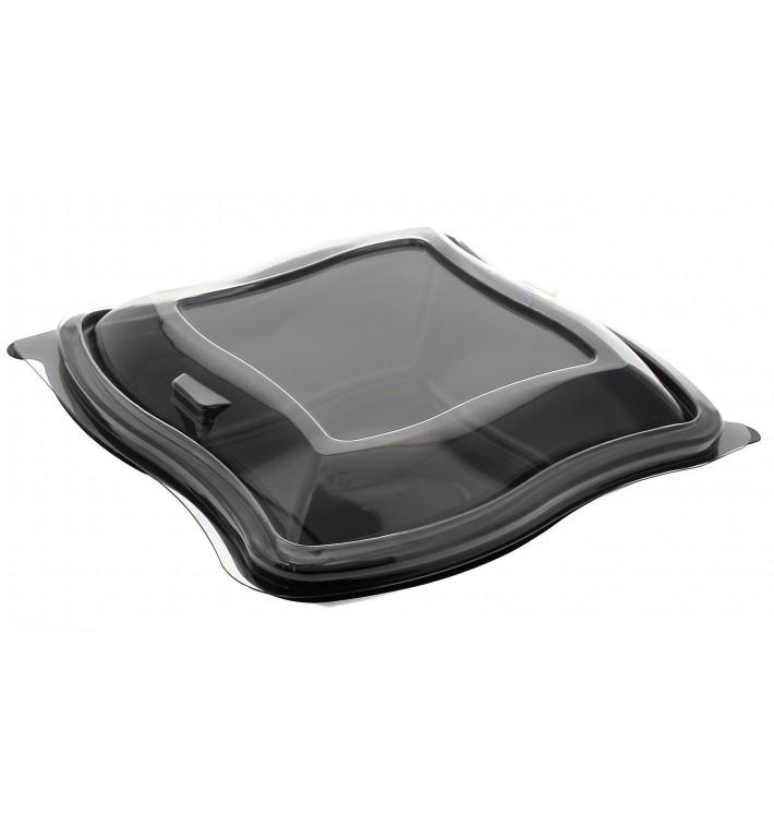 Saladier ondulé noir en plastique PET 750ml (400 Utés)