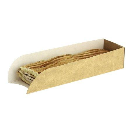 Emballage Hot Dog Kraft 17x5x3,5cm (25 Unités)