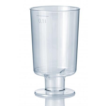Verre à Pied en Plastique 100ml (600 Unités)