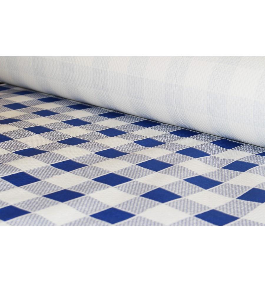 nappe en papier en rouleau carr bleu 1x100m 40g 1 unit. Black Bedroom Furniture Sets. Home Design Ideas