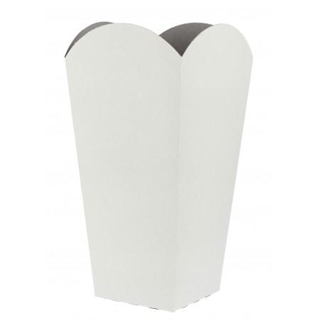 Etuis à Pop-Corn Moyen Blanc 90 gr  7,8x10,5x18cm (50 Utés)