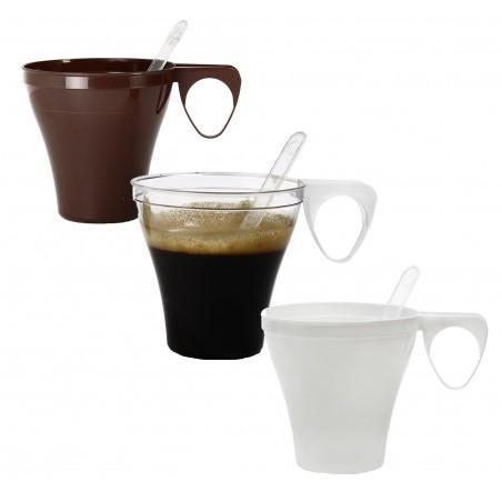 Tasse Plastique Dur Marron 80ml (1.200 Unités)