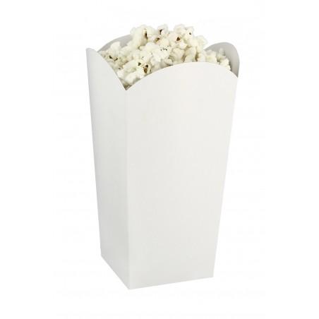Etuis à Pop-Corn Petit  Blanc 45 gr 6,5x8,5x15cm (25 Utés)
