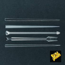 Pique en Plastique Snack Stick Transparent 90mm (1650 Utés)