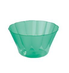 Copa ROYAL para  COCTAIL Verde de Plastico 300ml (Paquete 35 Uds