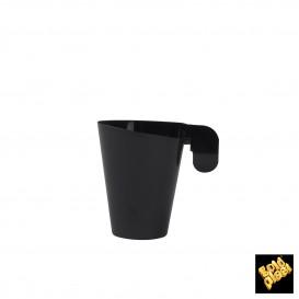 Tasse Plastique Design Noir 72ml (12 Unités)