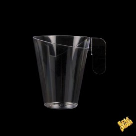 Tasse Plastique Design Transparent 155ml (12 Unités)