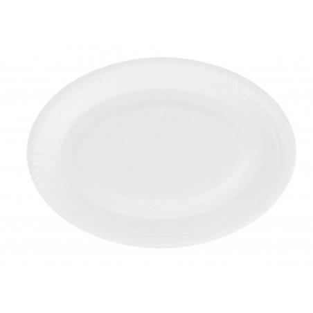 Assiette plate Ovale en Foam  260mm (500 Utés)