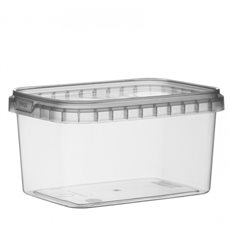 Pot en Plastique Rectangulaire inviolable 280ml 120x88mm (368 Unités)