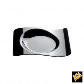 """Assiette Dégustation """"Forma"""" Noir 8x6,6 cm (50 Utés)"""