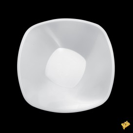 Bol en Plastique Blanc Square PP Ø210mm 1250ml (30 Utés)