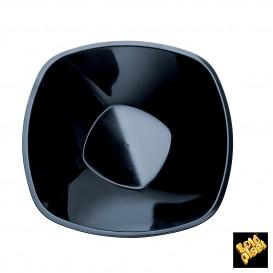 Bol en Plastique Noir Square PP Ø210mm 1250ml (3 Utés)