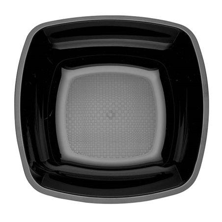 Assiette Plastique Fond Noir 180mm (25 Utés)