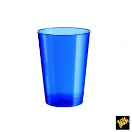 Verre Plastique Moon Bleu Pearl PS 200ml (500 Unités)