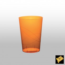 Verre Plastique Moon Orange Transp. PS 200ml (50 Unités)