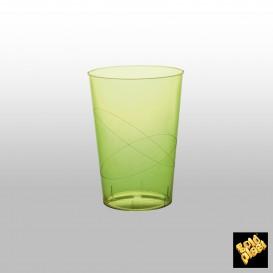 Verre Plastique Moon Vert Citron Transp PS 230ml (50 Unités)