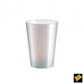 Verre Plastique Moon Blanc Pearl PS 200ml (50 Unités)
