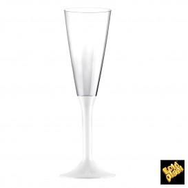 Flûte Champagne Plastique Blanc 120ml (200 Unités)