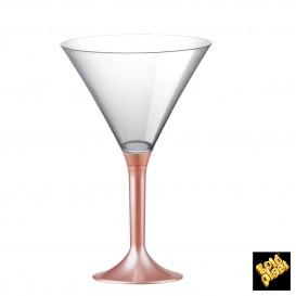 Flûte en Plastique Cocktail Pied Pêche Perlé 185ml (200 Unités)
