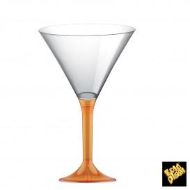 Flûte Plastique Pied Orange Transp. 185ml (200 Utés)