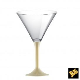 Flûte en Plastique Cocktail Pied Crème 185ml (200 Unités)