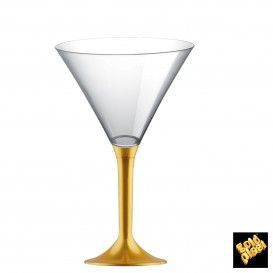 Flûte en Plastique Cocktail Or 185ml (20 Unités)