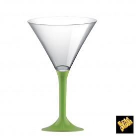 Flûte en Plastique Cocktail Pied Vert citron 185ml (200 Unités)