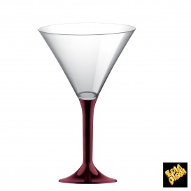 Flûte en Plastique Cocktail Pied Bordeaux 185ml (200 Unités)